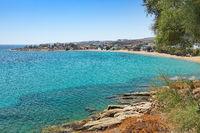 Logaras beach in Paros, Greece