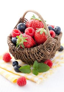 frischer Obstkorb