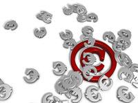 copyrightsymbol und eurozeichen - 3d rendering
