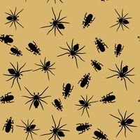 Beetle and spider insects seamless pattern 666