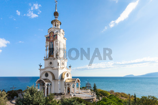 view of Church-lighthouse of St Nicholas in Crimea