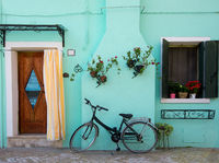 Bicycle near house