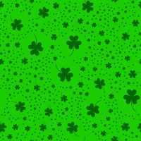Seamless pattern with clover leaves.