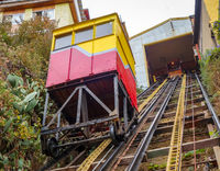 Vintage lift in Valparaiso, Chile
