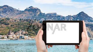 tourist photographs Giardini-Naxos and Taormina