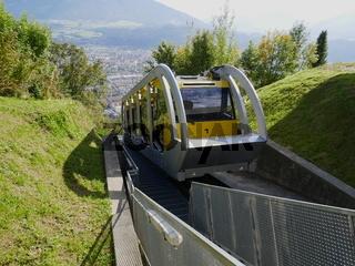Die neue Hungerburgbahn (Standseilbahn), Innsbruck,Tirol,Österreich