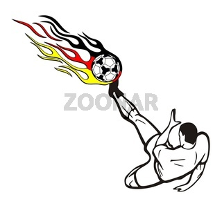 Fußballmotiv Deutschlandfarben