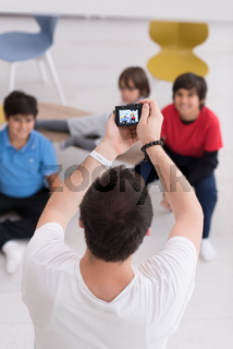 Photoshooting with kids models