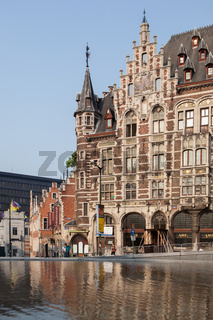 Old buildings with beautiful facade
