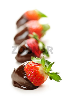 Strawberries dipped in chocolate