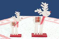 two reindeers of wood
