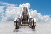 escalator to the blue sky