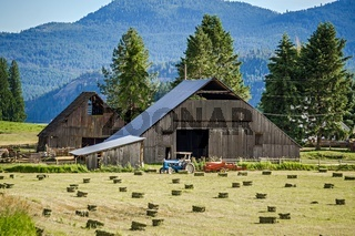 farm barn in colville national forest washington