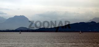 Lindau, Blick in Richtung Alpenrheindelta und zu den Drei Schwestern