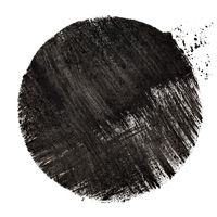 Black circle with strokes