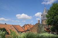 Hildesheim - Old town, Tower Kehrwiederturm, Germany