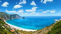 Petani Beach summer panorama (Kefalonia, Greece)