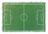 Football field top view. Green colour.