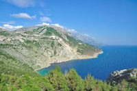 Coastal Landscape near Brela at Makarska Riviera,adriatic Sea,Dalmatia,Croatia