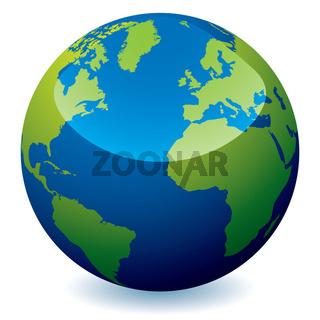 realistic earth globe