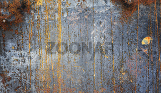 The texture is metallic. Industrial background from an old rusty