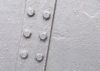Closeup of metallic structure
