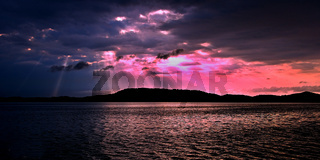 Pink beauty sunrise seascape. Australia.