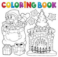 Coloring book Christmas thematics 9