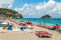 Spotorno beach, Italy