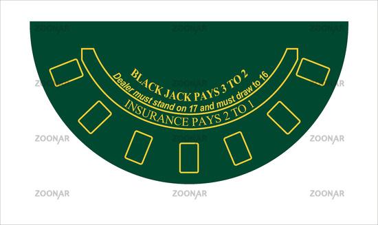 mini black jack tisch