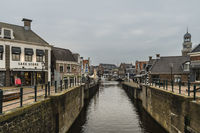 Narrow canal from inland port to city center.