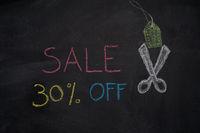 Sale 30% off on chalkboard