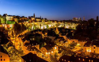 Luxembourg City night Panorama