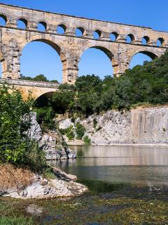 aqueduct Pont du Gard over Gardon River
