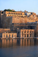 The early morning view of Fort Lascaris. Valletta