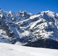 Winter in den französischen Alpen bei Chamonix