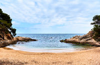 Platja D'Aro beach. Costa Brava, Spain.