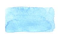 Blue uneven watercolor rectangle