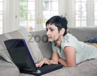 Using laptop at home