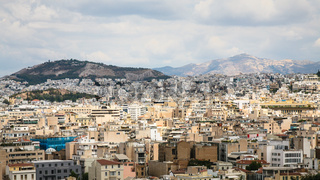 panoramic view of Athens city from Acropolis