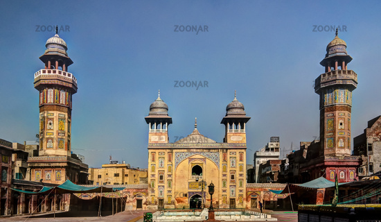 Facade of Wazir Khan Mosque, Lahore