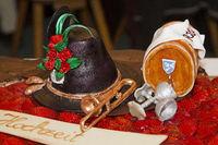 Detail of a wedding cake at a Sagittarius wedding