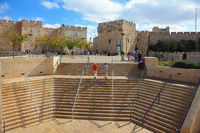 Stone steps leading to the Jaffa Gate
