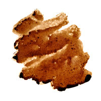 Zigzag coffee stain
