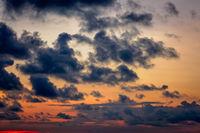 Dramatic sunset sky overlay