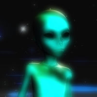 Digital 3D Rendering of an Alien
