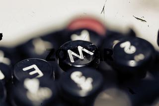 Taste W einer Schreibmaschine