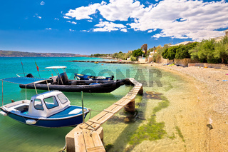 Kastel Stafilic turquoise beach view