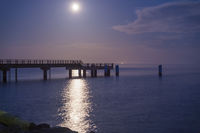 Moonlight over the pier.