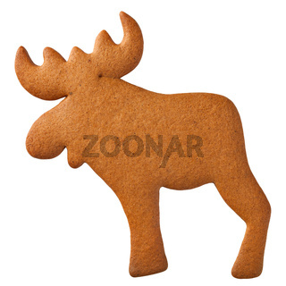 Gingebread Reindeer Cookie
